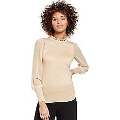 Oasis - Sheer Sleeve Knit
