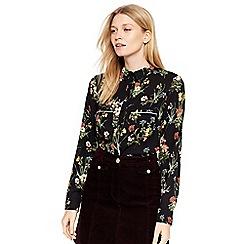 Oasis - Black winter bouquet shirt