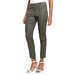 Oasis - Khaki compact cotton trousers