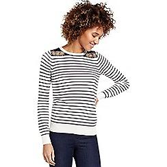 Oasis - Embellished Stripe Knit