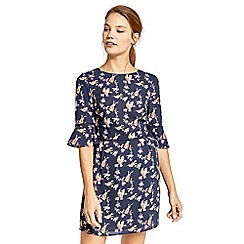 Oasis - Blue printed skater dress
