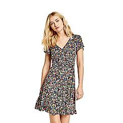 Oasis - Multicoloured disty wrap skater dress