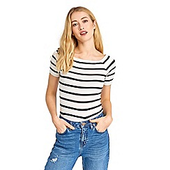 Oasis - Stripe square neck t-shirt