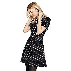 Oasis - Spot collar skater dress