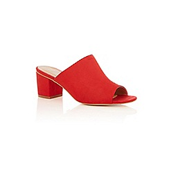 Oasis - Red 'mandy' mule sandals