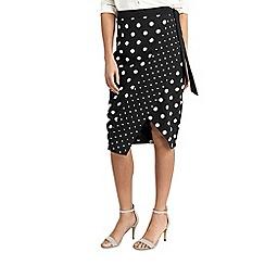 Oasis - Spot print wrap skirt
