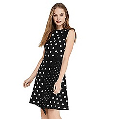 Oasis - 2 in 1 spot and stripe dress