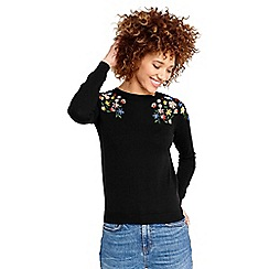 Oasis - Embroidered floral knit