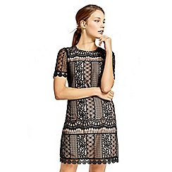 Oasis - Graphic lace shift dress