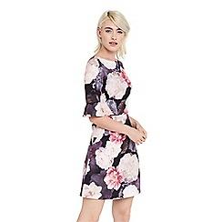 Oasis - Springbloom flute sleeve dress