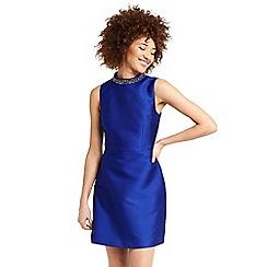 Oasis - Satin twill embellished shift dress