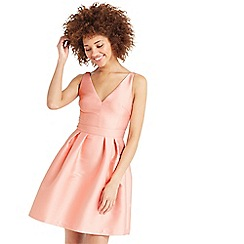 Oasis - Satin twill fit and flare dress