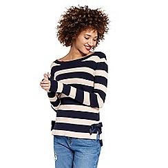 Oasis - Navy blue bow hem knitted jumper
