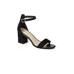 Oasis - Black 'rhea' block heels