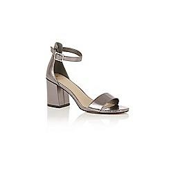 Oasis - Silver 'rhea' block heels