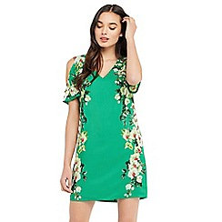 Oasis - Tropical cold shoulder dress