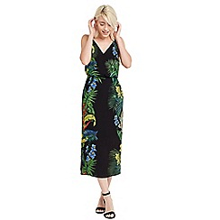 Oasis - Tropical placement midi dress