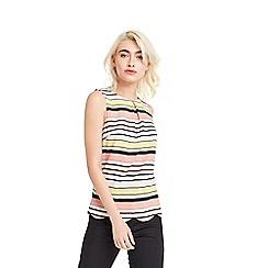 Oasis - Stripe scallop shell top