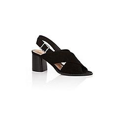 Oasis - Black 'brittany' block heels sandals