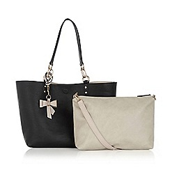 Oasis - Reversible bow shopper bag