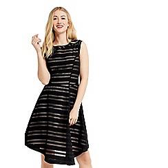 Oasis - Stripe burnout dress