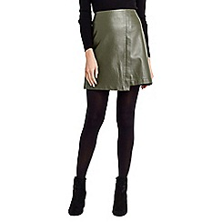 Oasis - Faux leather wrap skirt