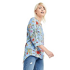 Oasis - Spring botanical wrap shirt