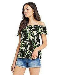 Oasis - Tropical botanical bardot top