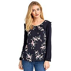 Oasis - Crane ruffle blouse