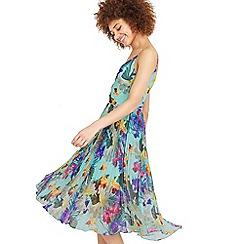 Oasis - Tropical pleat midi dress