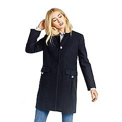 Oasis - Navy collarless coat