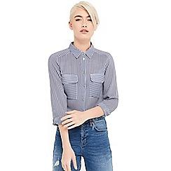 Oasis - Stripe viscose wrap shirt