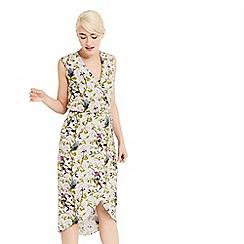 Oasis - Topaz bird wrap midi dress