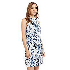 Oasis - Tropical botanic high neck dress