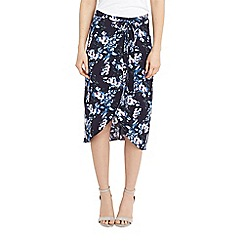 Oasis - Tropical botanical midi skirt