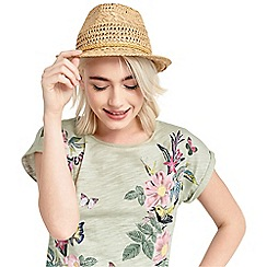 Oasis - Ochre trim trilby hat