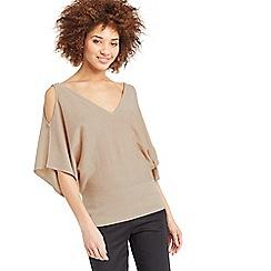 Oasis - Sparkle cold shoulder knit