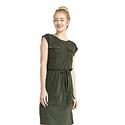 Oasis - Cupro utility t-shirt dress