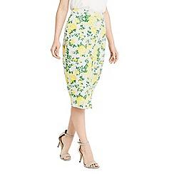 Oasis - Summer blossom pencil skirt