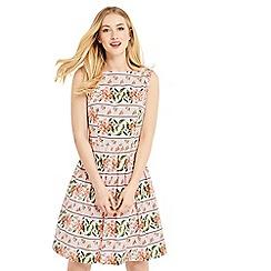 Oasis - Stripe floral dress