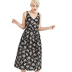 Oasis - Dandelion jacquard midi dress