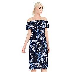 Oasis - Tropical bardot dress