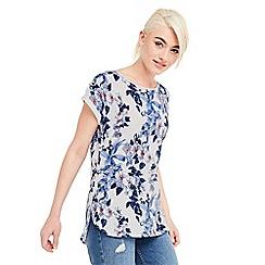 Oasis - Tropical botanical slub t-shirt