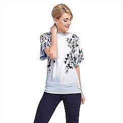 Oasis - Floral kimono cold shoulder top