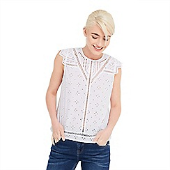 Oasis - Cotton broiderie shell top