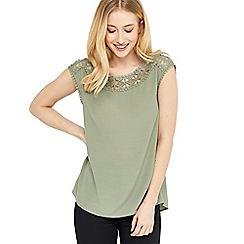 Oasis - Lace trim t-shirt