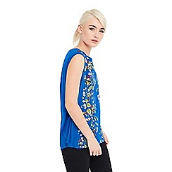 Oasis - Topaz place woven front top
