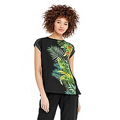 Oasis - Tropical pleated back t-shirt