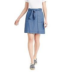 Oasis - Tencel tie front skirt