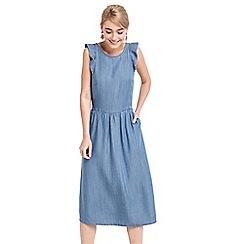 Oasis - Ruffle midi dress